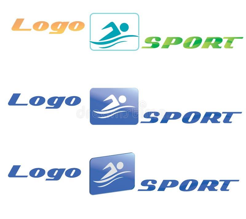 徽标体育运动游泳 向量例证