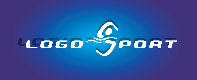 徽标体育运动游泳 库存例证
