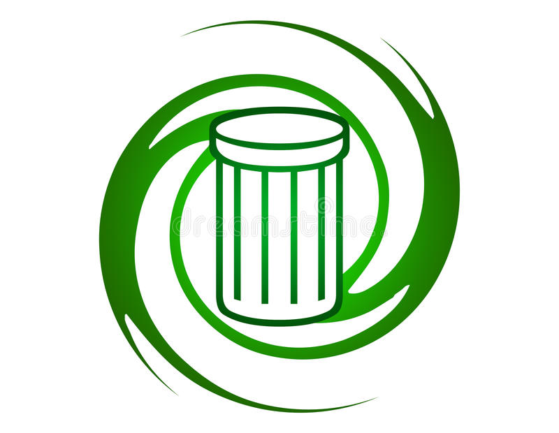 徽标回收 向量例证