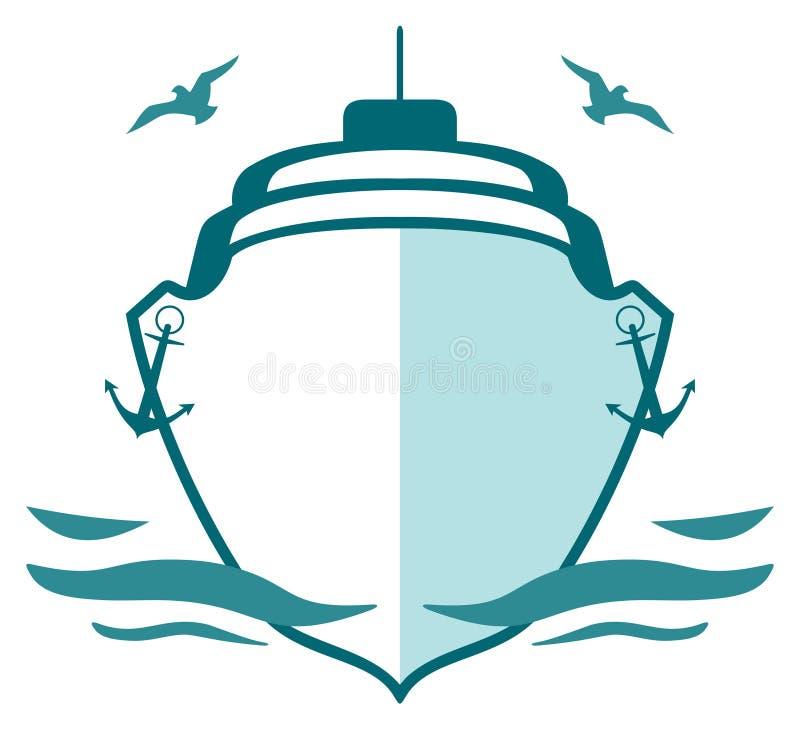徽标海军陆战队员 库存例证