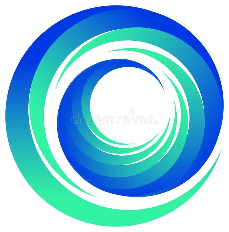 徽标漩涡 向量例证
