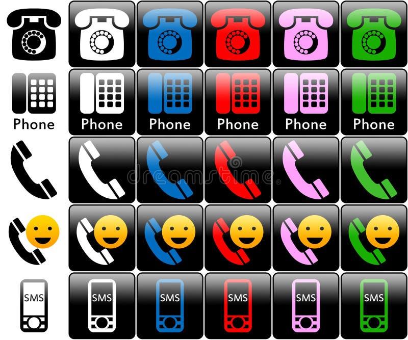 徽标电话 库存例证