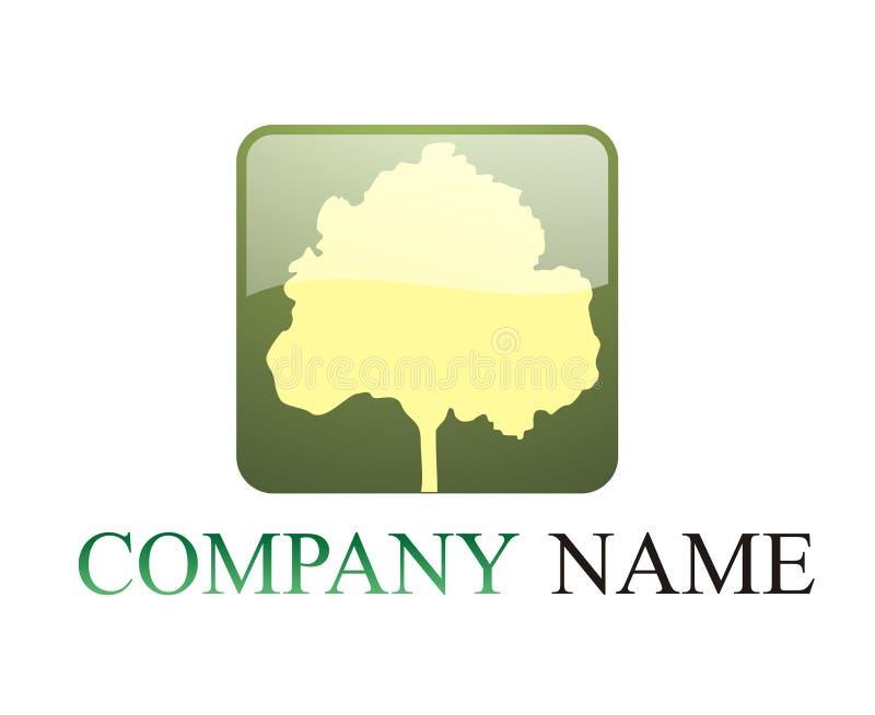 徽标结构树 库存例证