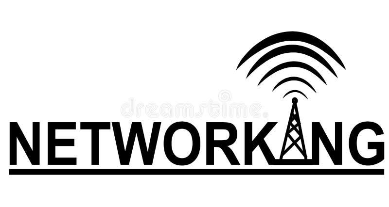 徽标网络连接塔 向量例证