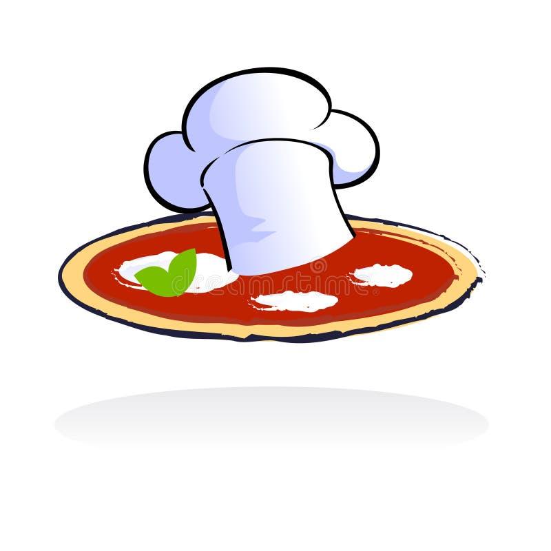 徽标薄饼餐馆 皇族释放例证