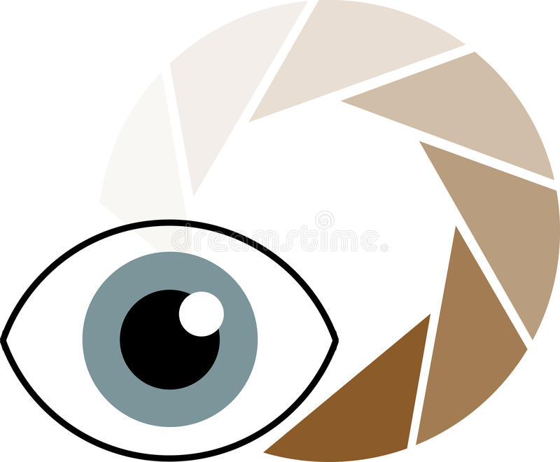徽标视觉 库存例证