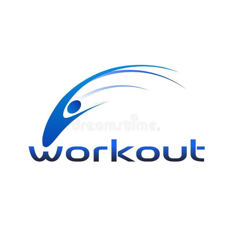 徽标锻炼 向量例证