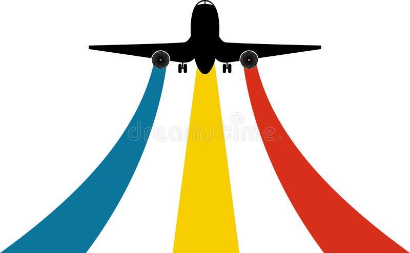 徽标飞机 向量例证