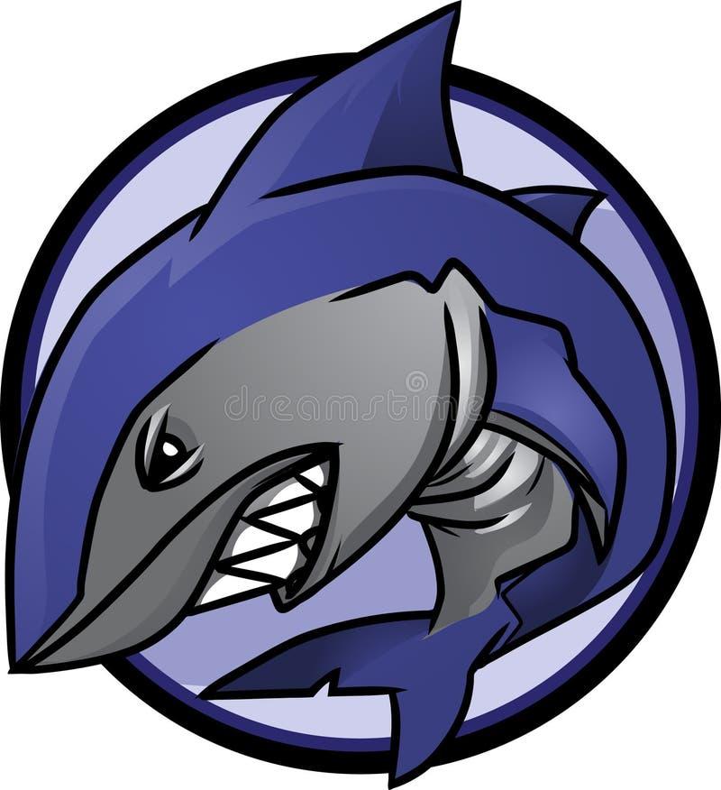 徽标鲨鱼 向量例证