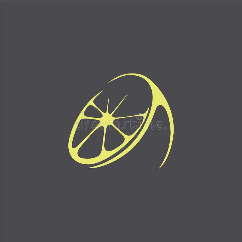 徽标 抽象背景黑色公司要素徽标 风格化柠檬 图库摄影