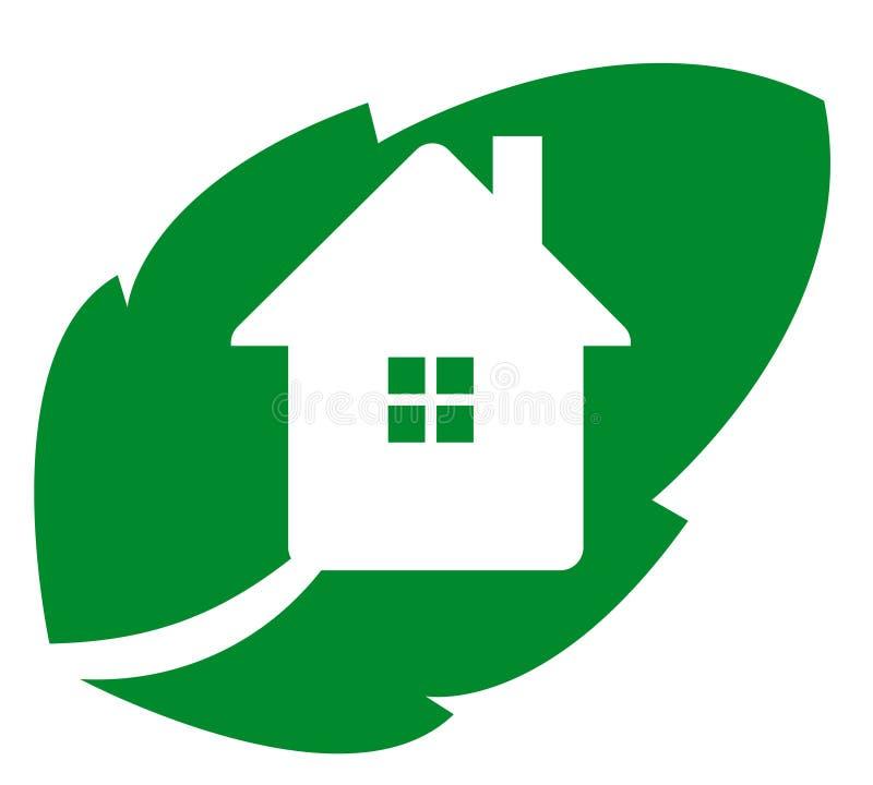 徽标eco房子 向量例证