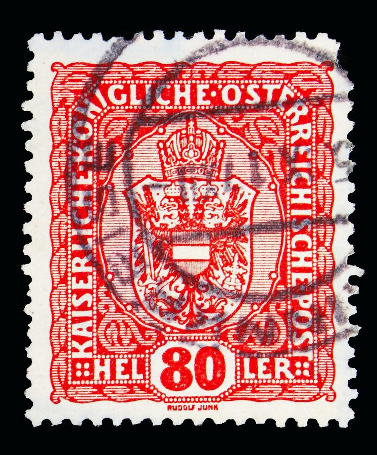 徽章、冠、皇帝弗朗兹约瑟夫和徽章seri 免版税图库摄影