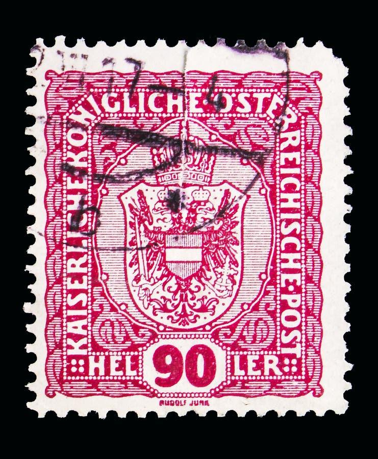 徽章、冠、皇帝弗朗兹约瑟夫和徽章seri 免版税库存图片