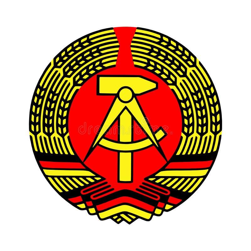 徽章东德 皇族释放例证