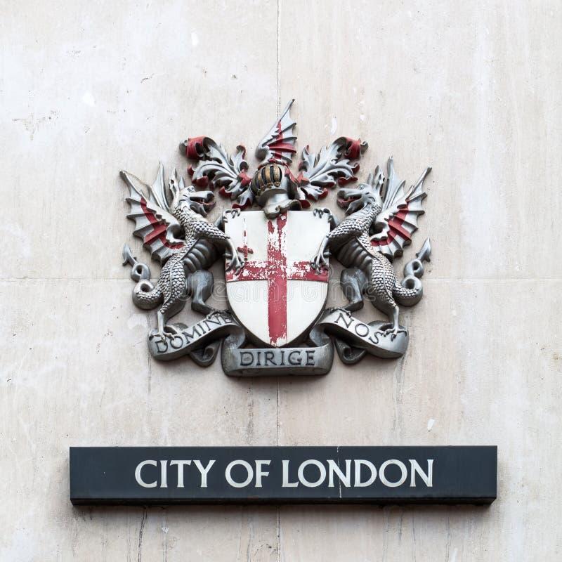 徽章伦敦市的 免版税库存照片