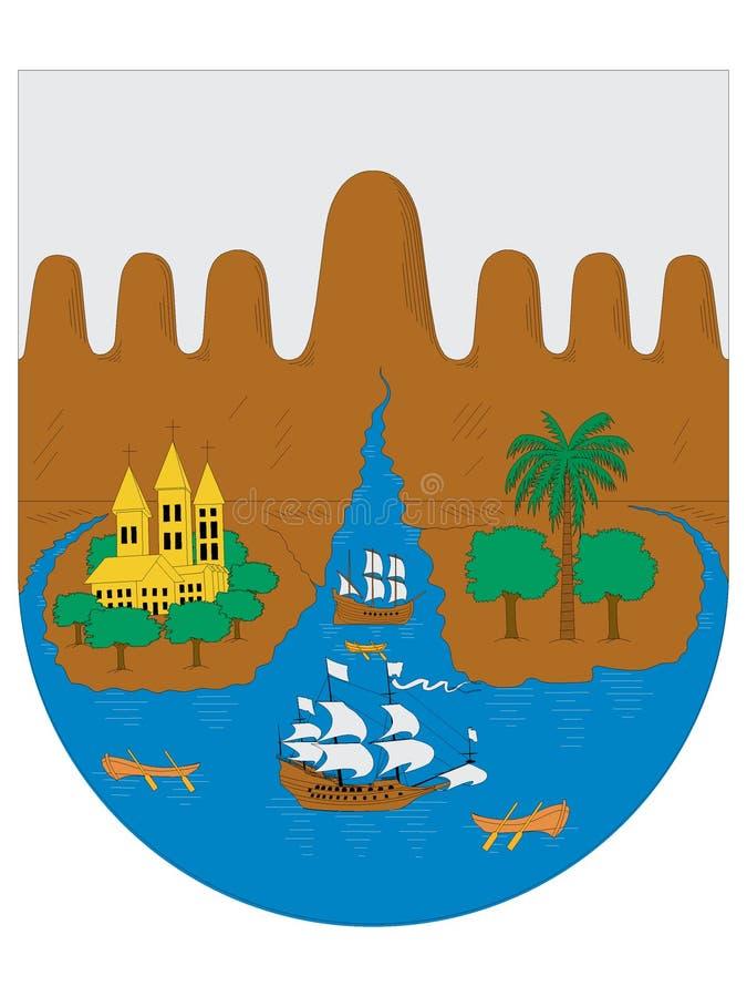徽章圣地亚哥de卡利的  向量例证