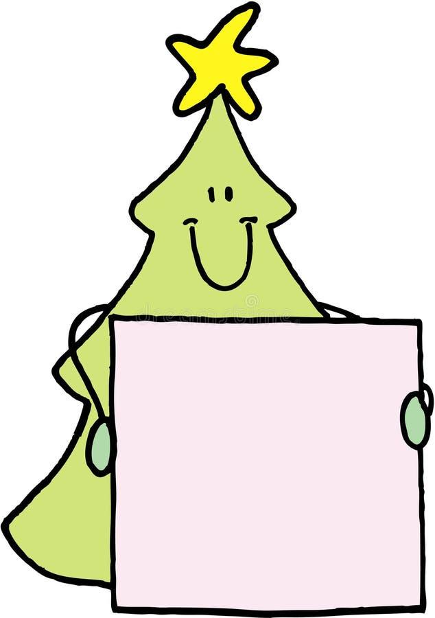 徽章圣诞节名字结构树 库存例证