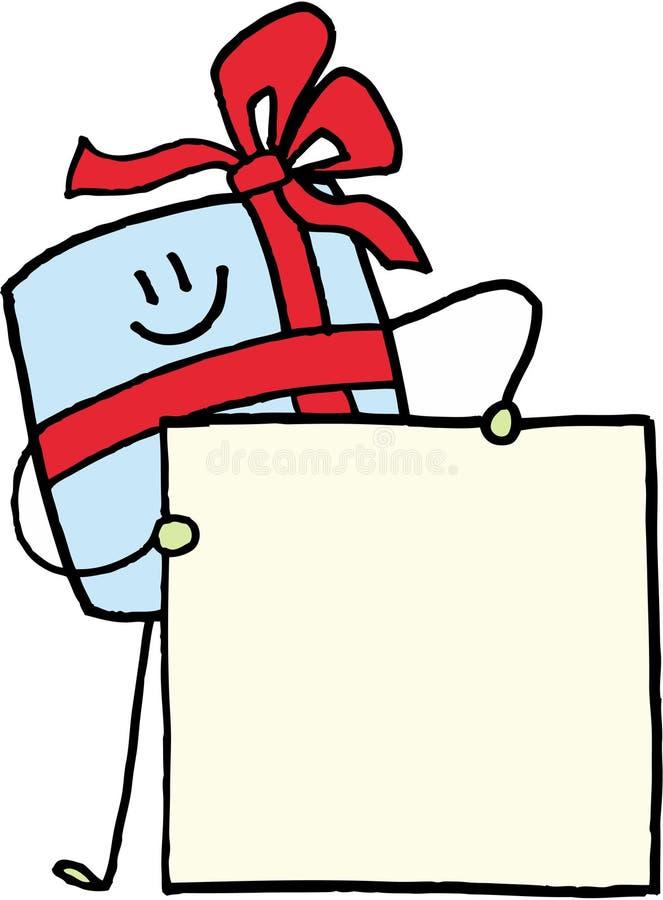 徽章圣诞节礼品名字 皇族释放例证