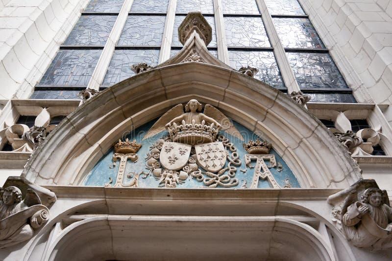 徽章在Royal Chateau de Blois的 图库摄影