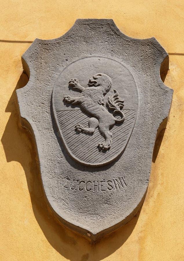 徽章家庭Lucchesini的在卢卡,意大利 库存图片