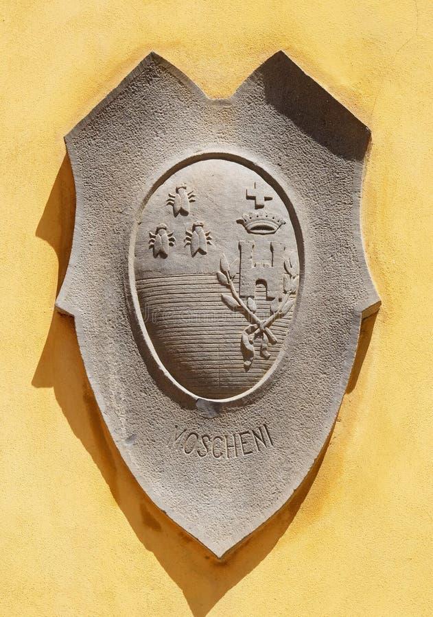 徽章家庭Moscheni的在卢卡,意大利 免版税图库摄影