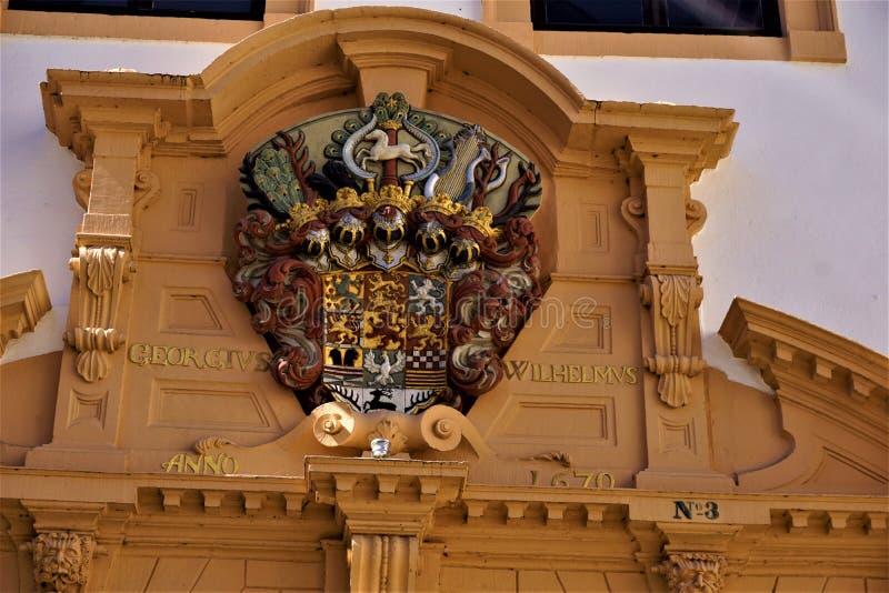徽章布朗斯维克吕讷堡县公国的塞莱城堡的 免版税图库摄影