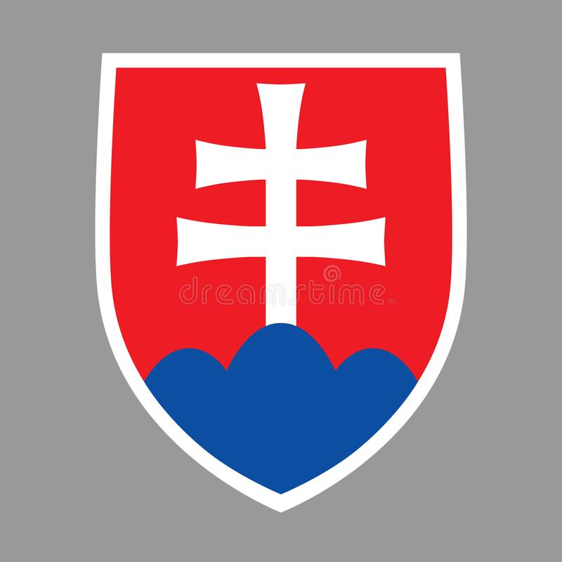 徽章斯洛伐克 向量例证