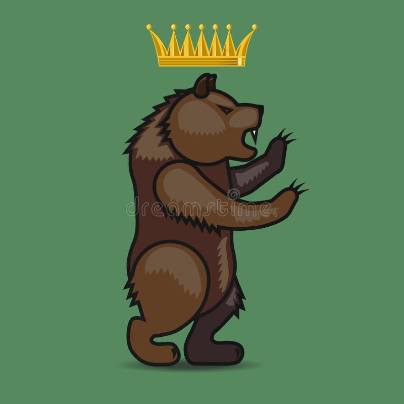 徽章有熊的 皇族释放例证