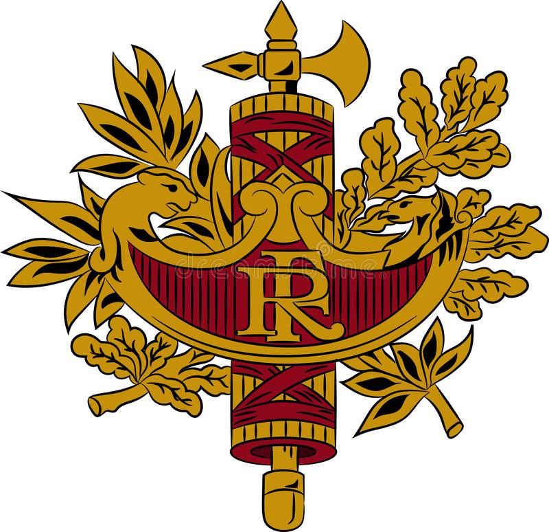 徽章法国的 库存例证
