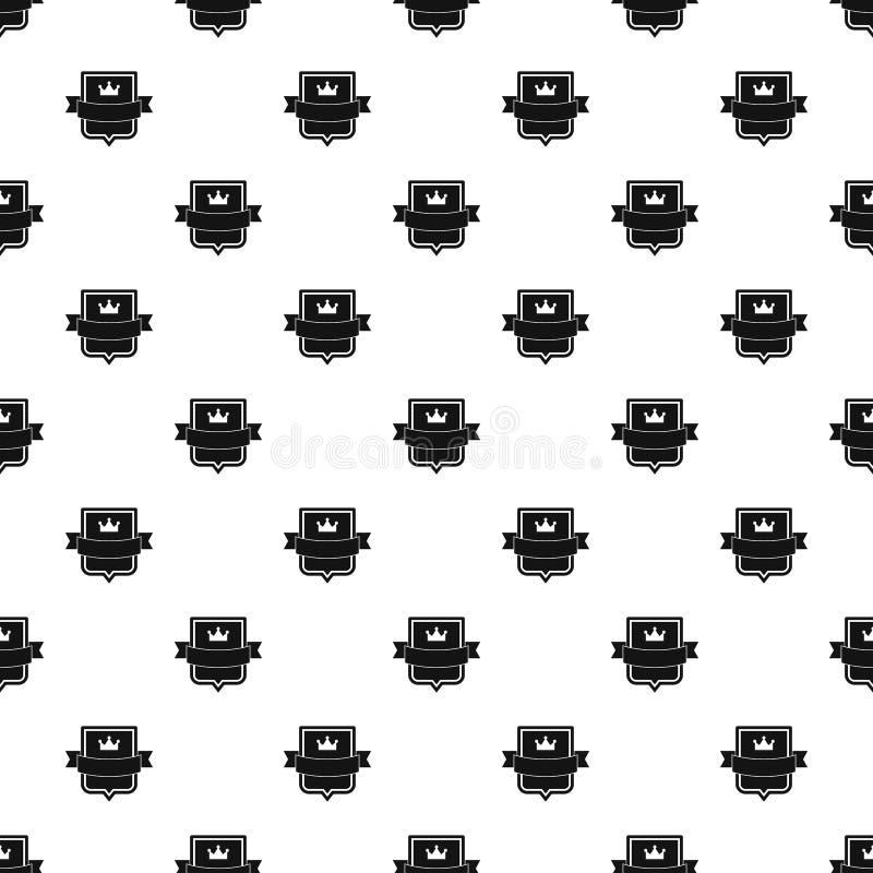 徽章皇帝样式无缝的传染媒介 向量例证
