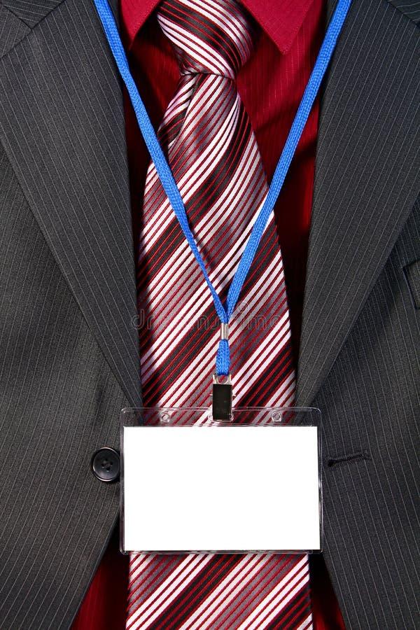 徽章看板卡空的id 免版税库存图片