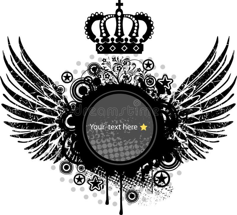 徽章空白冠纹章学盾 库存例证