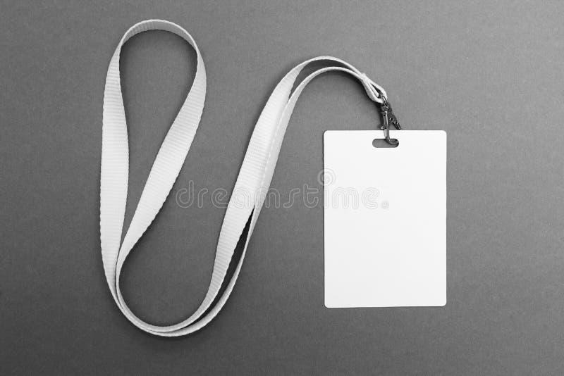 徽章空白塑料空的安全 r 库存图片