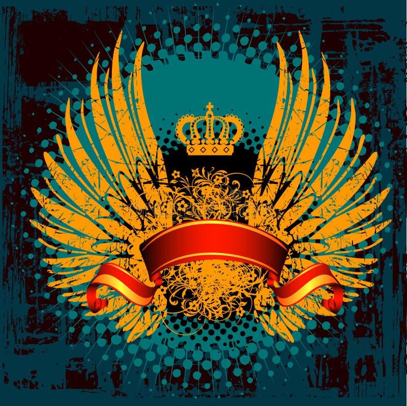 徽章纹章学盾 皇族释放例证