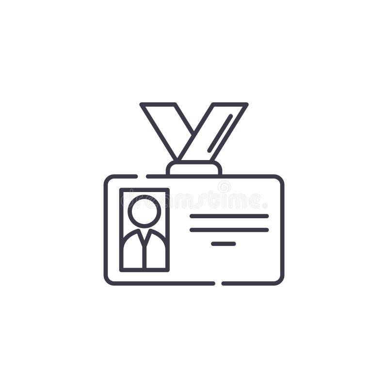 徽章线性象概念 证章线传染媒介标志,标志,例证 库存例证