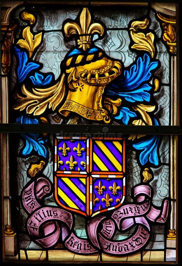 徽章菲利普,伯根地公爵的 库存照片
