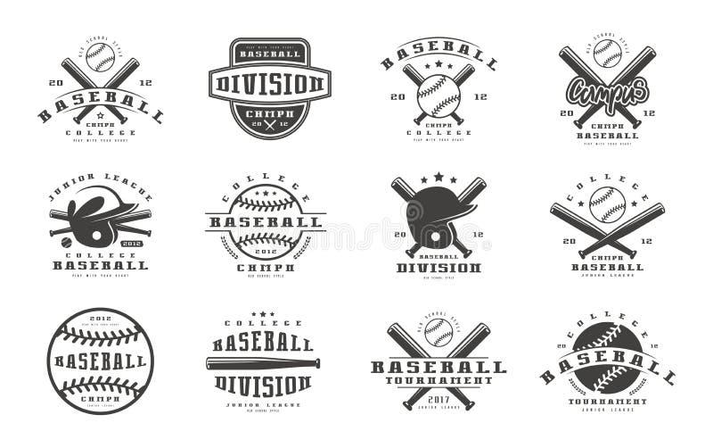 徽章被设置棒球队 向量例证