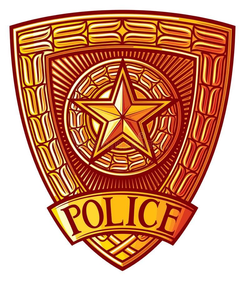 徽章警察 皇族释放例证