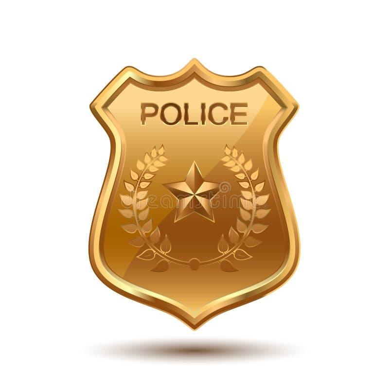 徽章设计例证警察 库存例证