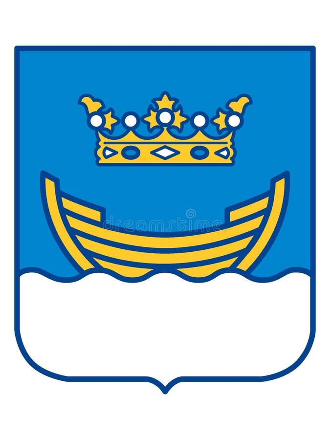 徽章赫尔辛基的  向量例证