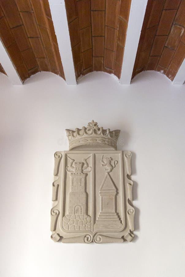 徽章阿尔曼萨,西班牙的 免版税库存照片