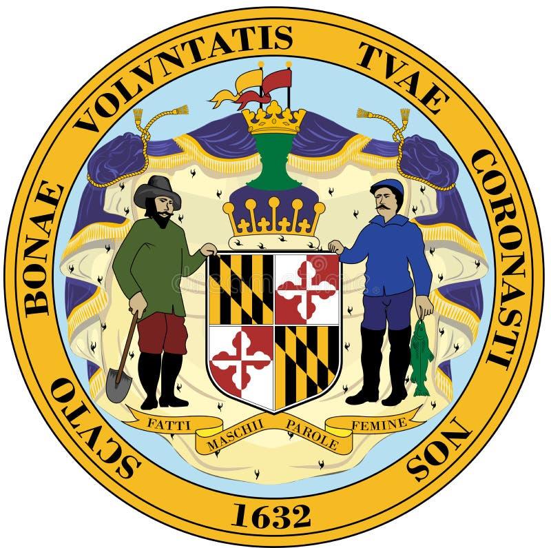 徽章马里兰,美国的 库存例证
