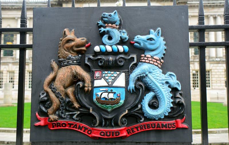 徽章,贝尔法斯特,北爱尔兰 库存图片
