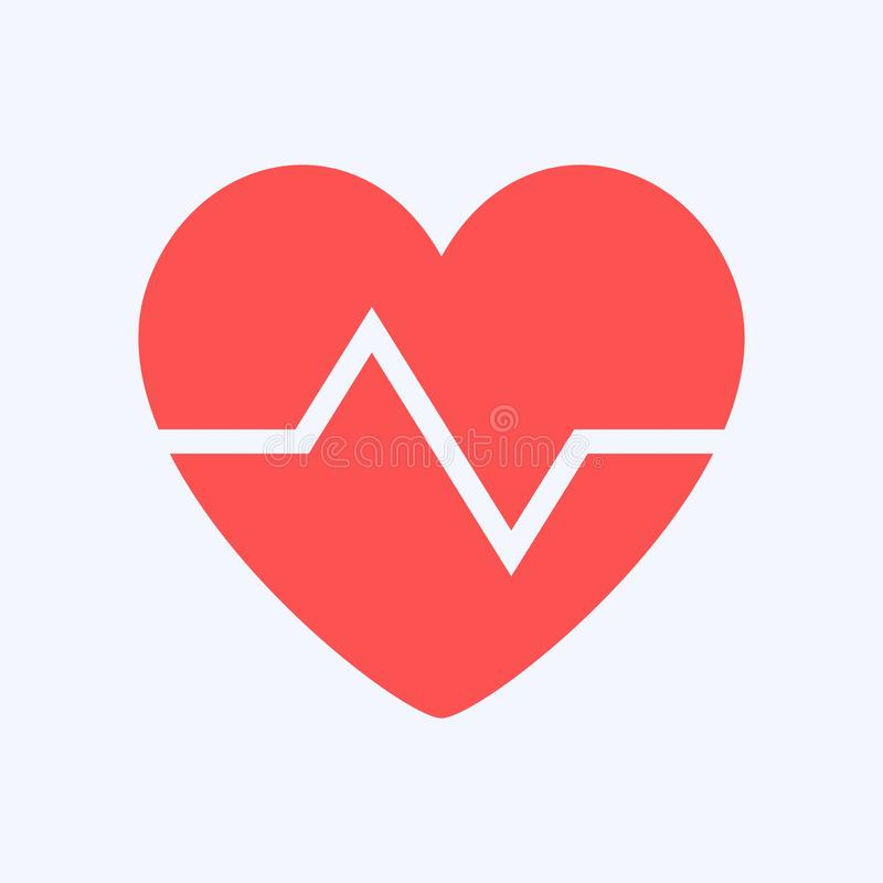 心形标志设计,保护健康 向量例证