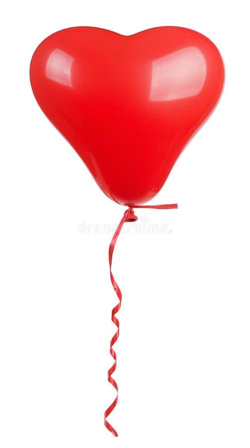 心形的红色气球 免版税库存图片