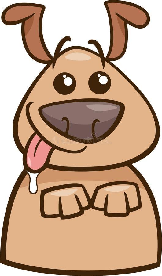 心情饥饿的狗动画片例证 库存例证
