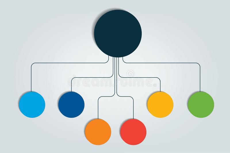 心智图,流程图, infographic 皇族释放例证