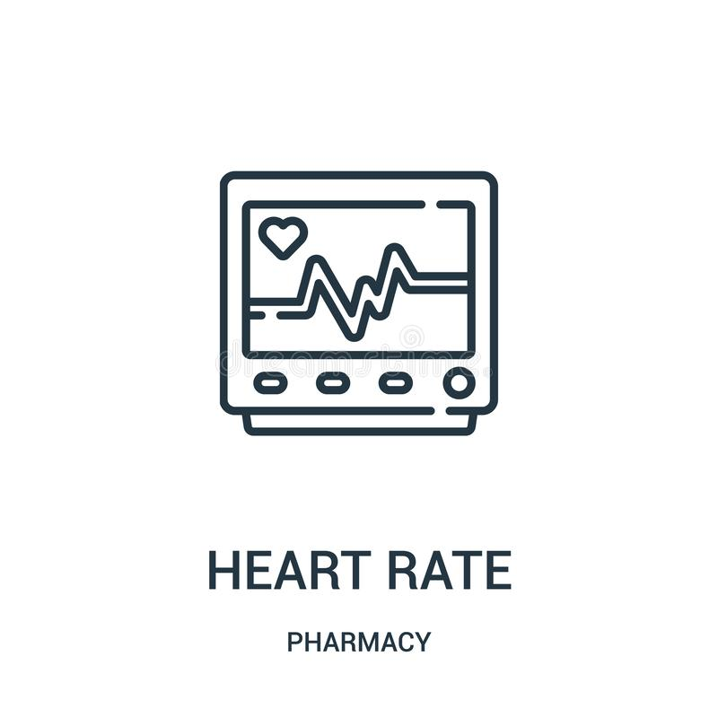 心率从药房汇集的象传染媒介 稀薄的线心率概述象传染媒介例证 库存例证