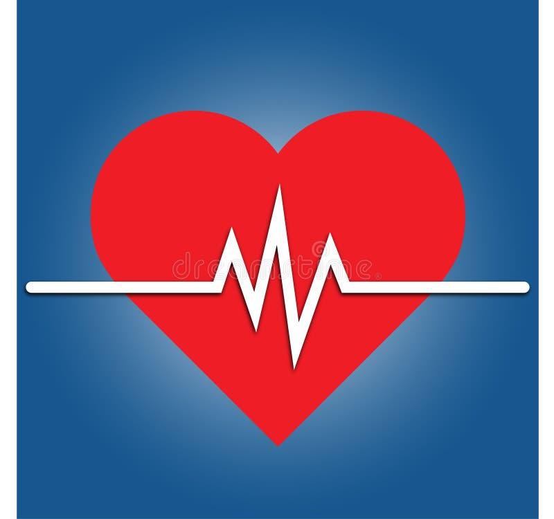 心率象-健康显示器 红色心率 血压传染媒介象 皇族释放例证