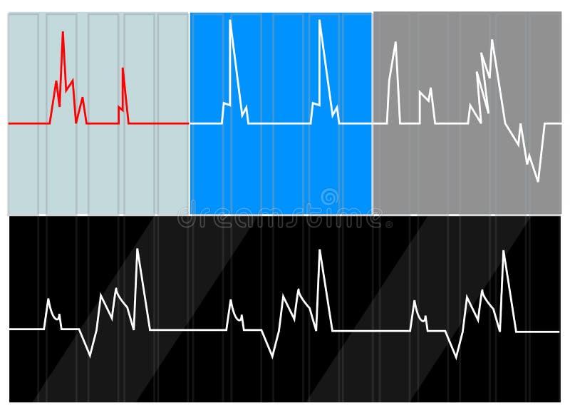心率 向量例证